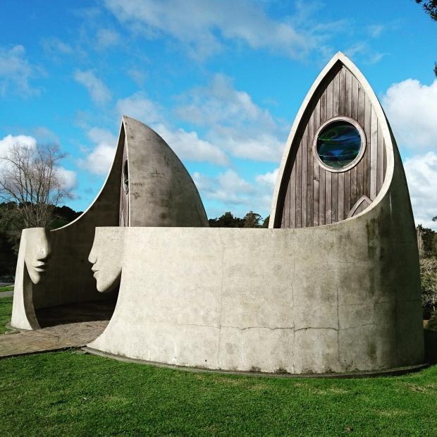Matakana toilets, exterior view